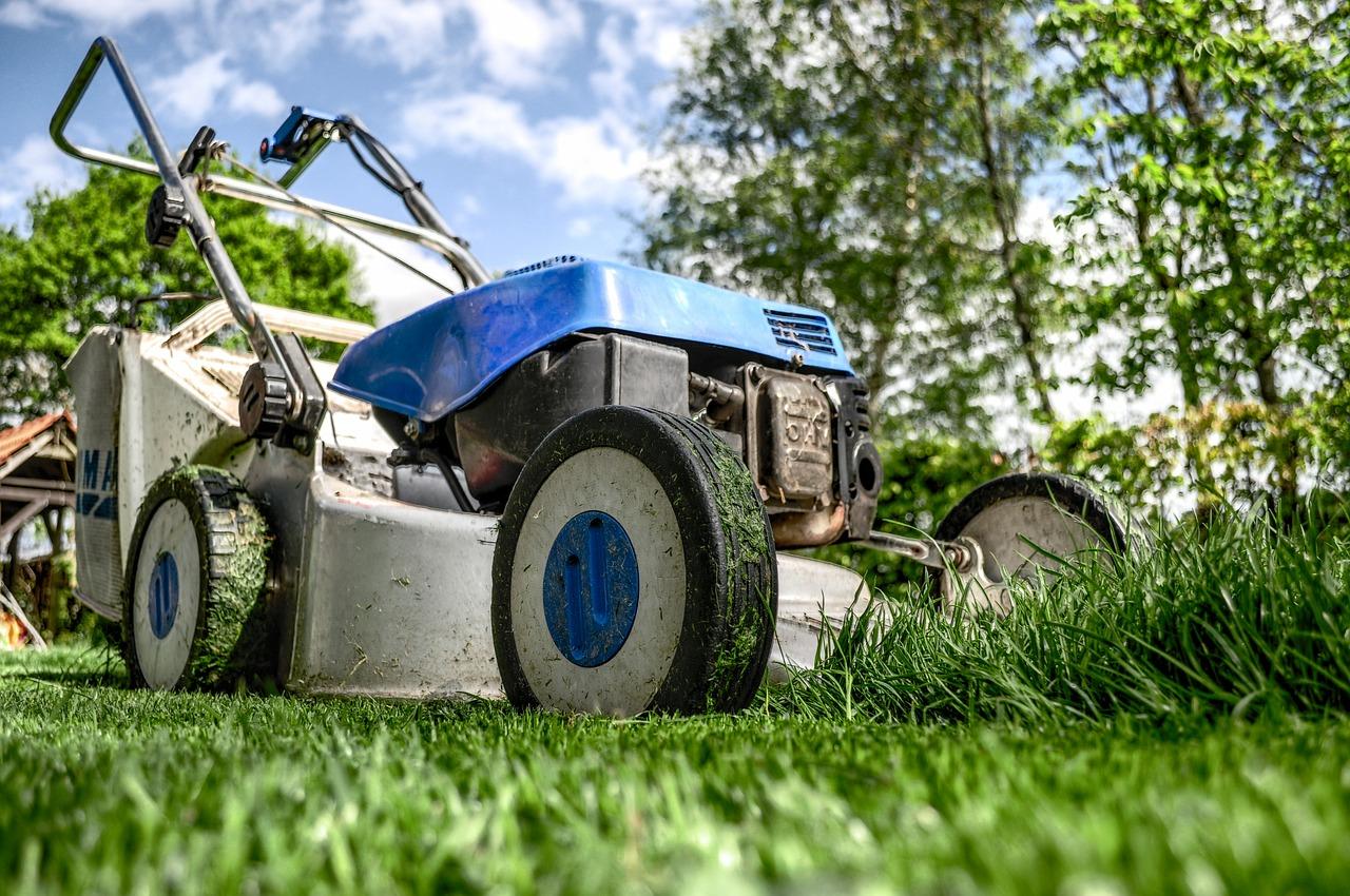 lawnmower, gardening, lawn-mower